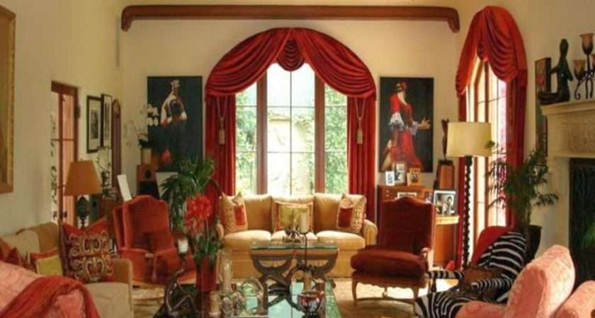 Bold Tuscan Living Room Colors Bright Red