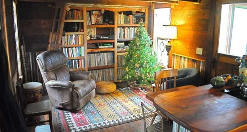 Bookcase Daybed Inside Tiny Homes Cottages Small