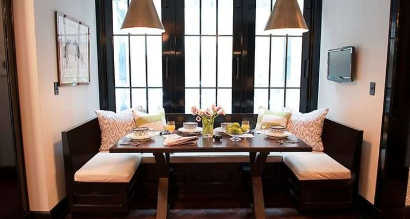Booth Dining Home Dream Kitchen Room Pinterest