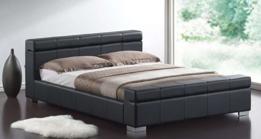 Brand New Double Black Leather Designer Bed Mattress Rrp