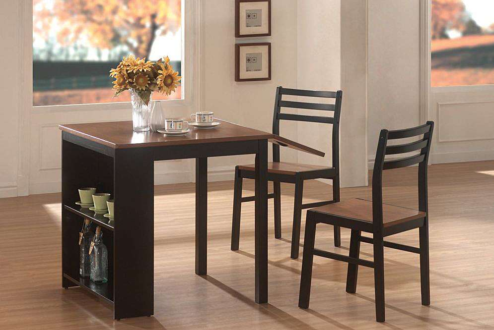 Breakfast Table Set Black Walnut Casual Kitchen Dining Tables
