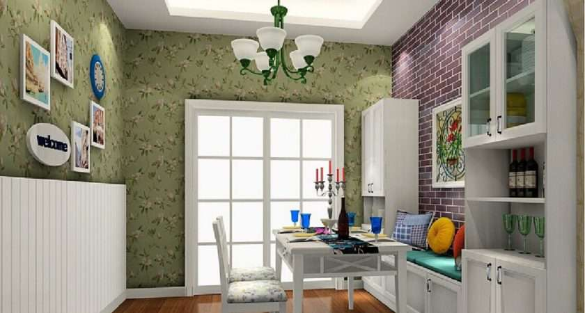 Brick Wall Pastoral Style Dining Room