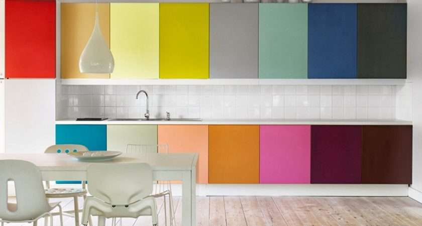 Bright Colors Kitchen Design Her Beauty