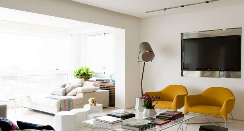 Bright Yellow Accent Chairs Living Room