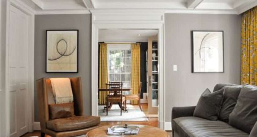 Brown Couch Gray Walls Home Design Ideas