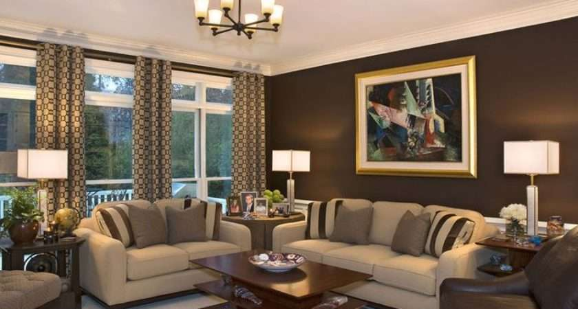 Brown Wall Paint Color Living Room Contemporary