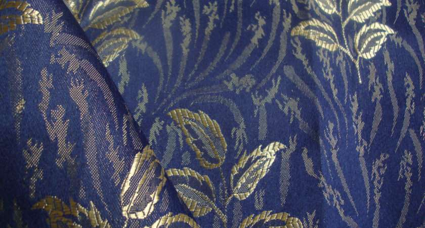 Bruges Curtain Fabric Blue Curtains Fabx