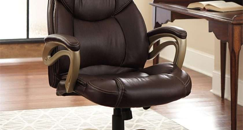 Brylanehome Extra Wide Memory Foam Office Chair
