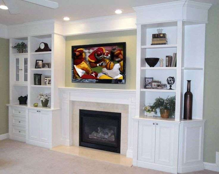 Built Shelving Over Fireplace Fireplaces Pinter