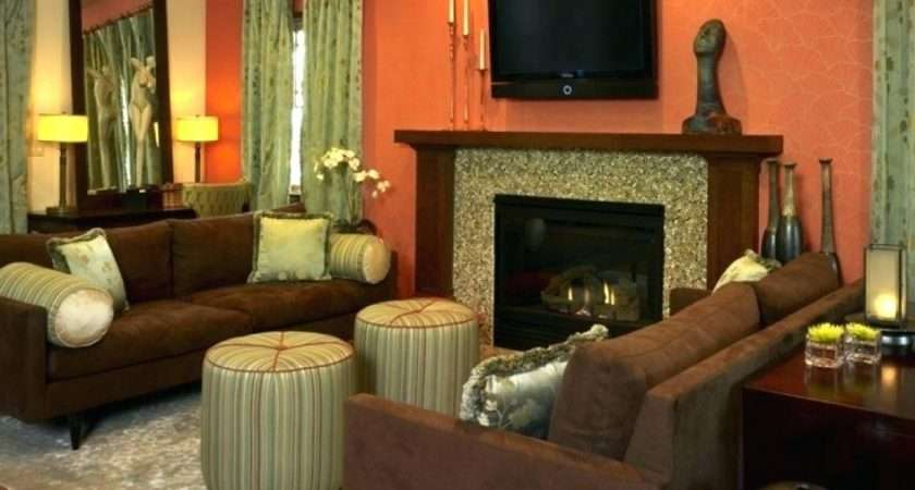 Burnt Orange Olive Green Living Room Gopelling