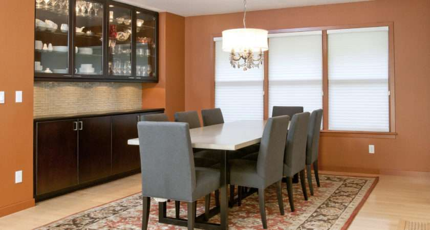 Burnt Orange Paint Color Dining Room Contemporary