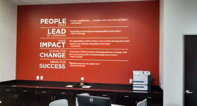 Business Values Wall Lettering Fastsigns