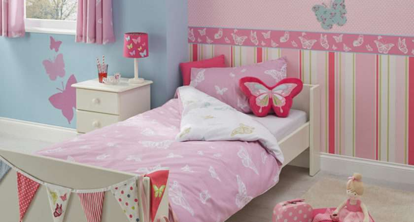 Butterfly Design Girls Bedroom Contemporary Hampshire