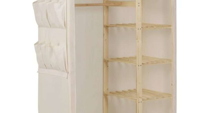 Buy Home Polycotton Pine Double Wardrobe Cream