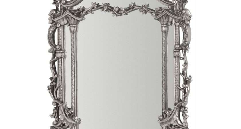 Buy Large Silver Rectangular Antique Wall Mirror
