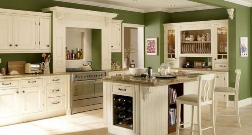 Cabinets Kitchen Green Pale