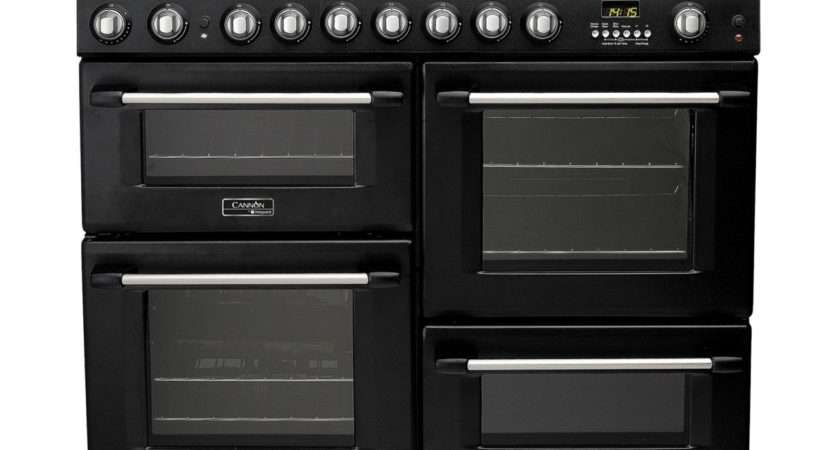 Cannon Gfs Dual Fuel Range Cooker Anthracite