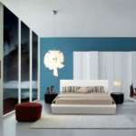 Captivating Design Bedroom Pattern Ideas Featuring White Blue Wall