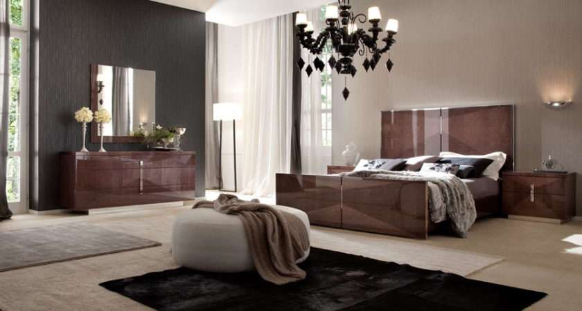 Casa Italian Bedroom Collection Consists Bed Night Tables