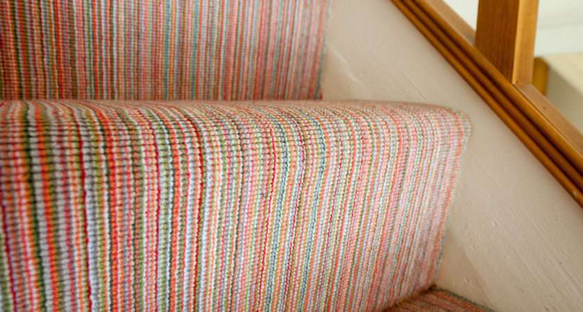 Case Study Bright Finely Striped Stairs Landing