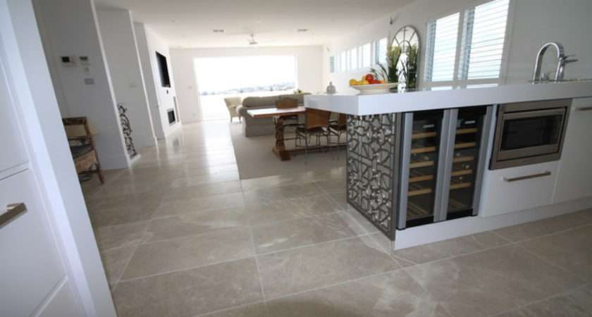 Cashmere Marble Flooring Contemporary Kitchen Sydney