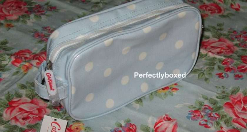 Cath Kidston Cosmetic Bags Spot Pale Blue Perfectlyboxed