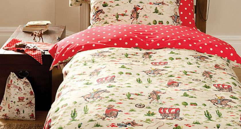 Cath Kidston Cowboy Duvet Cover Pillowcase Set