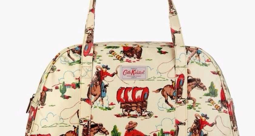Cath Kidston Cowboy Print Over Night Zip Bag Ebay