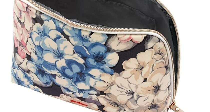 Cath Kidston Rhododendron Curved Top Wash Bag Temptation