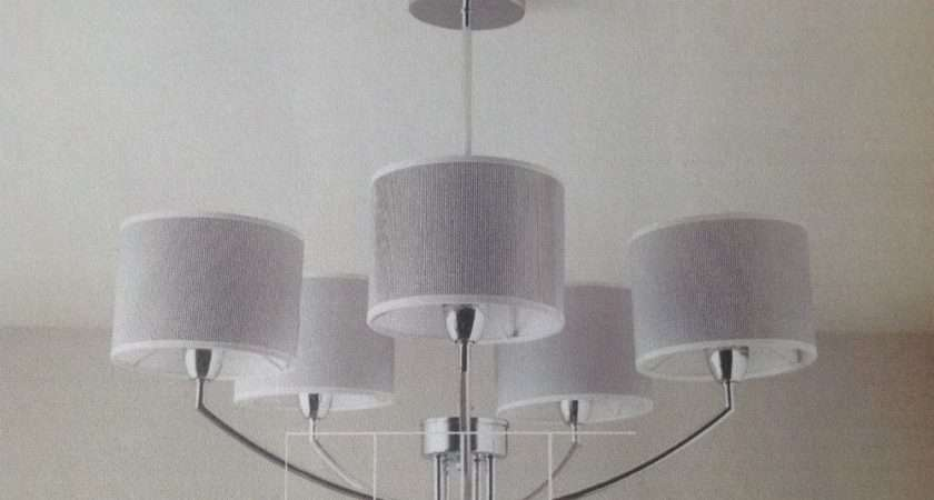 Ceiling Light Fades Shaded Chrome Effect Lamp Pendant Ebay