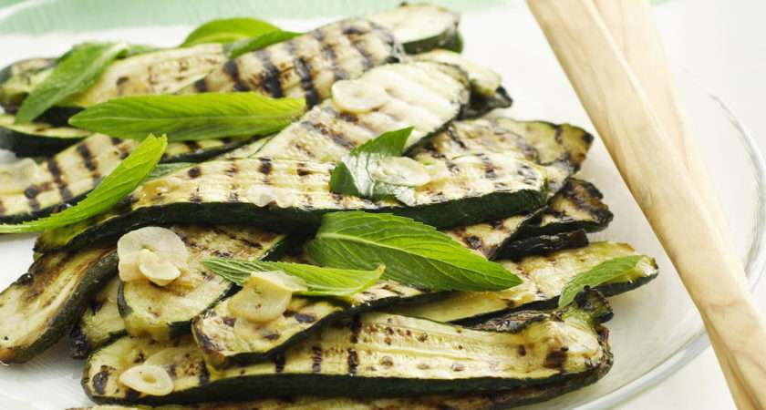 Char Grilled Courgette Salad Mint