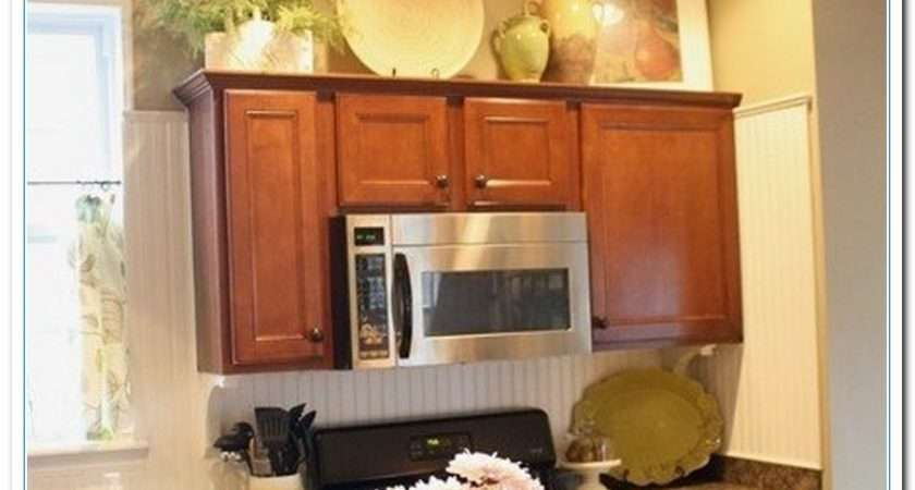 Charming Ideas Above Kitchen Cabinet Decor Home