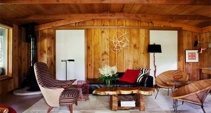 Charming Living Rooms Wooden Panel Walls Rilane