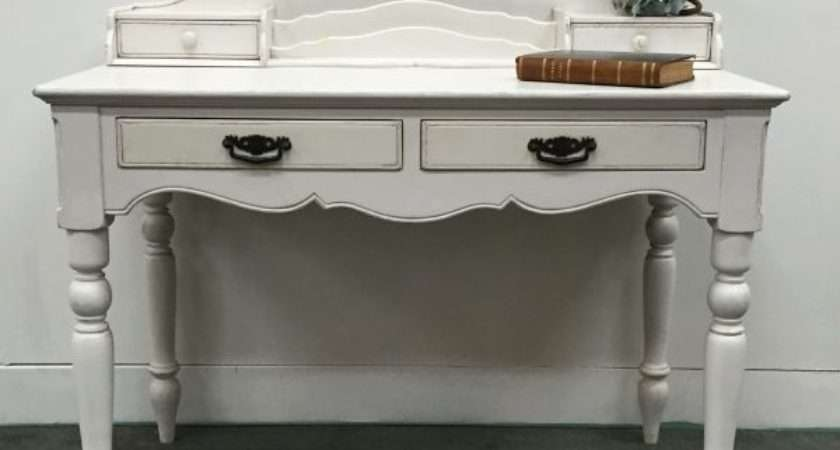 Charming Vintage White Painted French Desk Country Corner