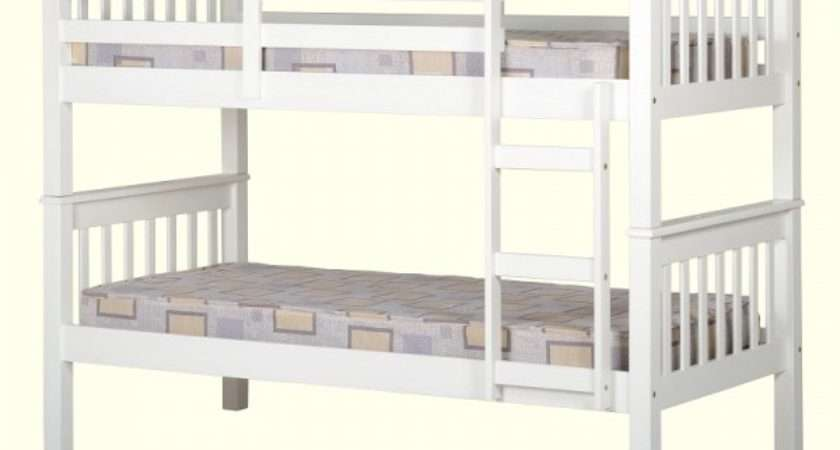 Cheap Seconique Neptune White Wooden Bunk Bed Frame