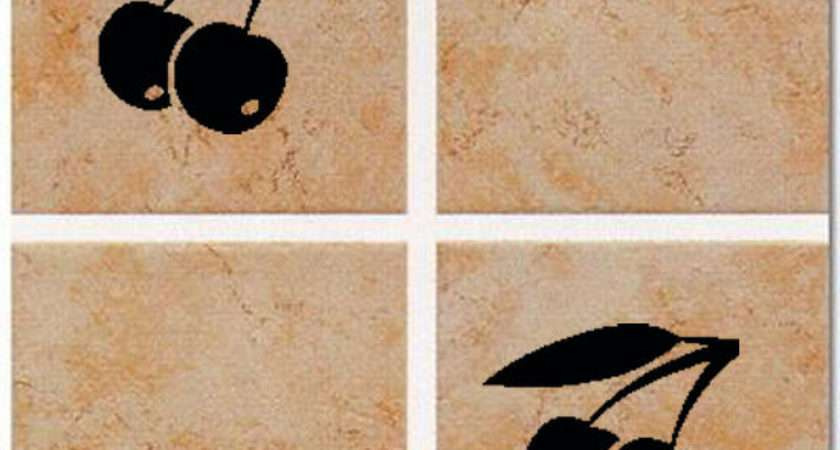 Cherry Tile Transfers Kitchen Bathroom Stickers