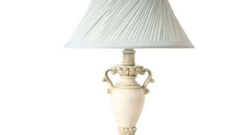 Chic Ornate Resin Duck Egg Blue Twisted Pleat Table Lamp Shabby