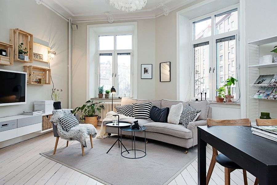 Chic Scandinavian Living Rooms Steal Show