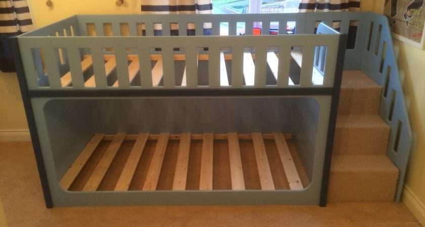 Children Playhouse Beds Bunk Bed Stairs Right