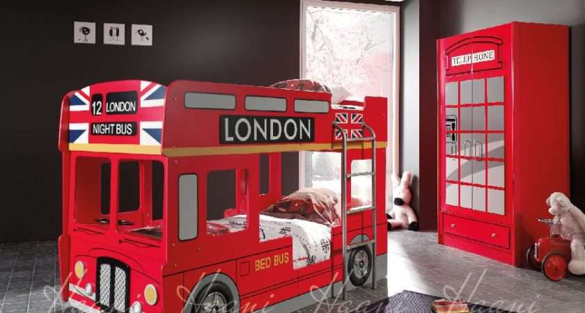 Childrens Beds Haani London Bus Novelty Bunk Bed