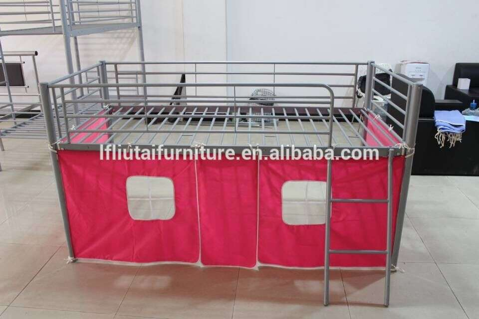 Childrens Novelty Metal Mid Sleeper Soccer Bed Bunk Curtain