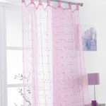Childrens Tab Top Voile Curtain Panel Daisy