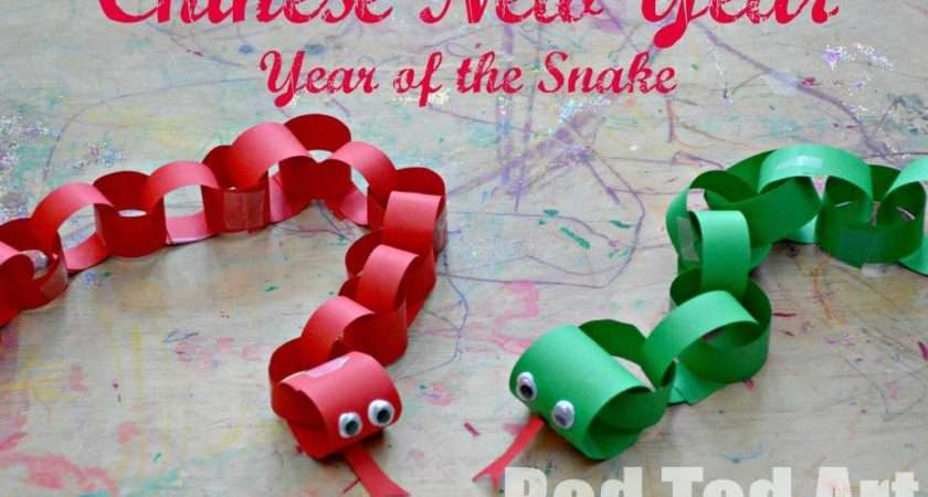 Chinese New Year Crafts Kids Snake Red Ted Art
