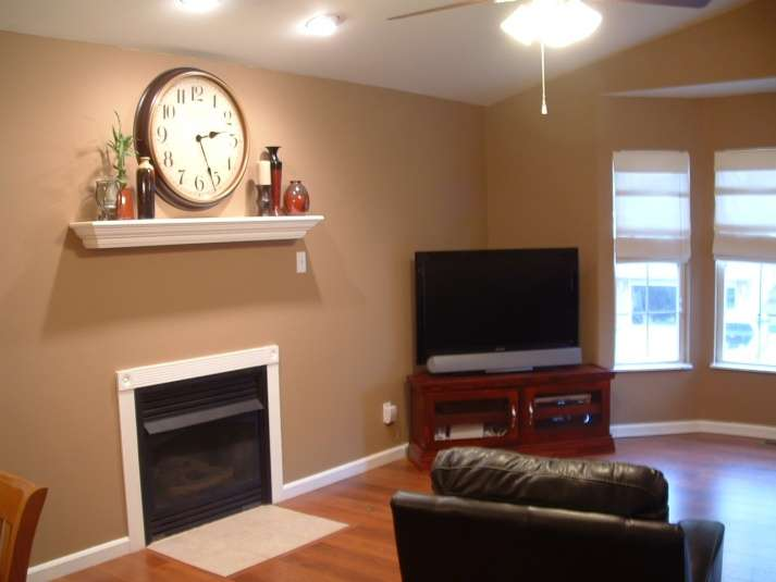 Choice Living Room Dark Brown Hardwood Floors Painting