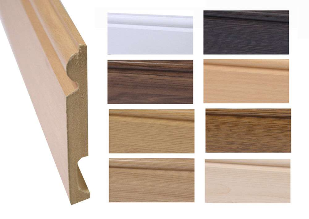 Choose Skirting Board Wood Laminate Flooring White Oak
