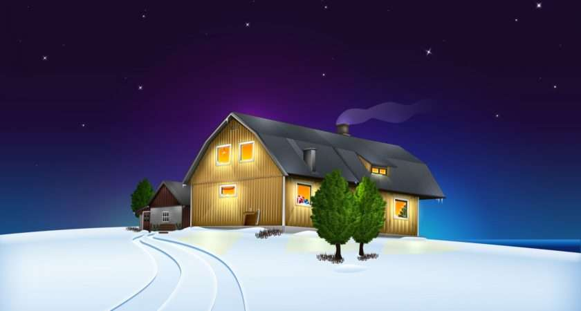 Christmas House Wallpapercow