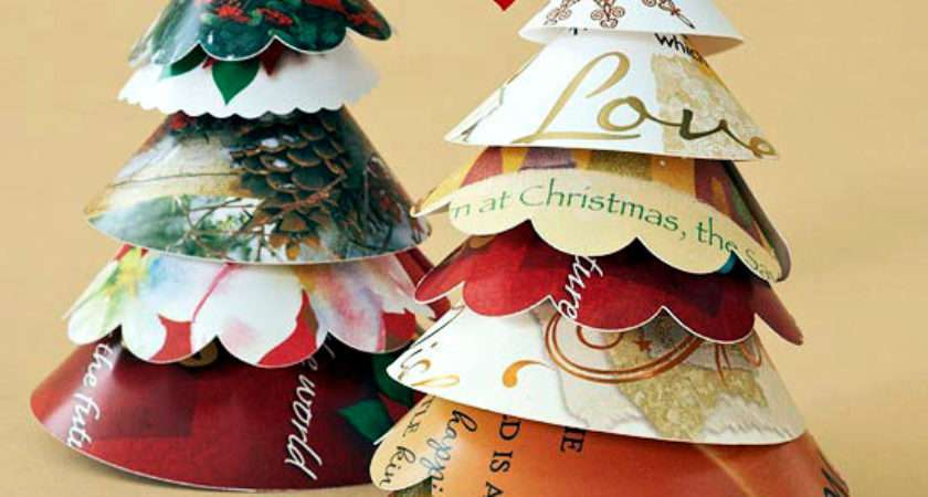 Christmas Paper Crafts Ideas Upcycling