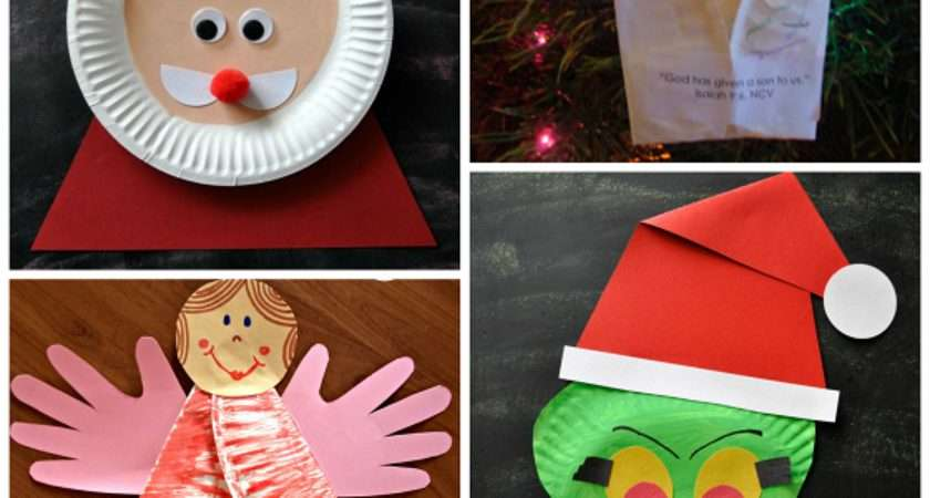 Christmas Paper Plate Crafts Kids Crafty Morning