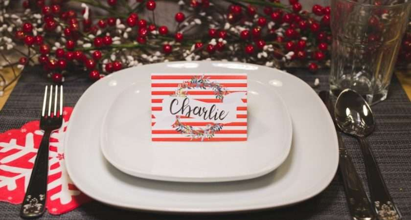 Christmas Table Place Cards Printable Six Clever