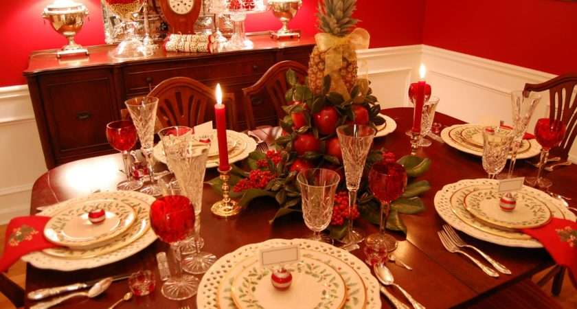 Christmas Tablescape Table Setting Lenox Holiday Colonial